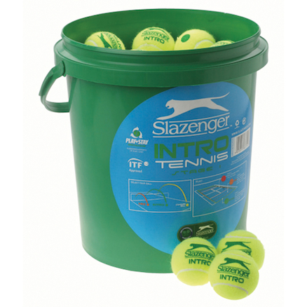 Bucket of Green Mini Tennis Balls 60pk  large