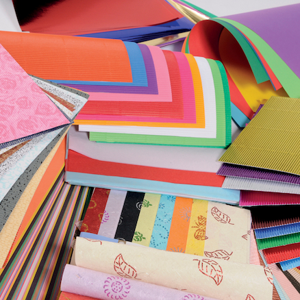 Assorted Craft Paper with Storage Box  large