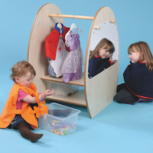 Mini Toddler Wooden Role Play Dress Up Trolley  medium