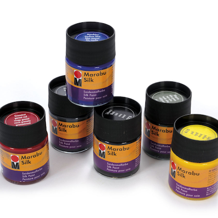 Marabu Silk Assorted Paint Set 50ml 6pk  large