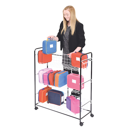 Budget Metal Lunch Box Trolley  large