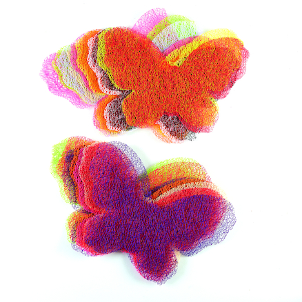 Craft Mesh Weaving Butterflies 30pk  large