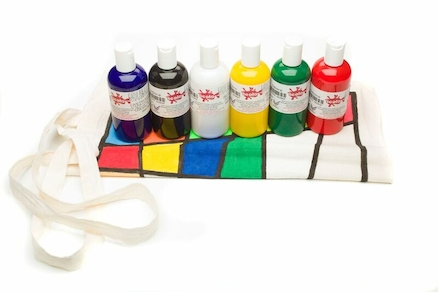 Heat Fix Fabric Paint Assorted 150ml 6pk  large