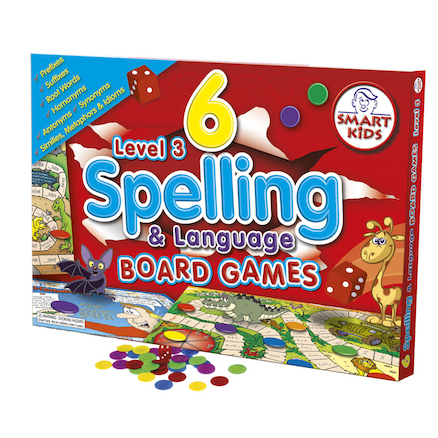 6 Spelling Board Games \- Level 3  large