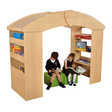 Indoor Reading Den with Book Storage  medium