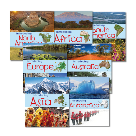 Introducing Continents Books 7pk  large