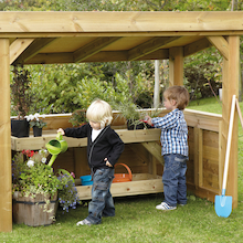 Outdoor Natural Roof Wooden Role Play Room  medium