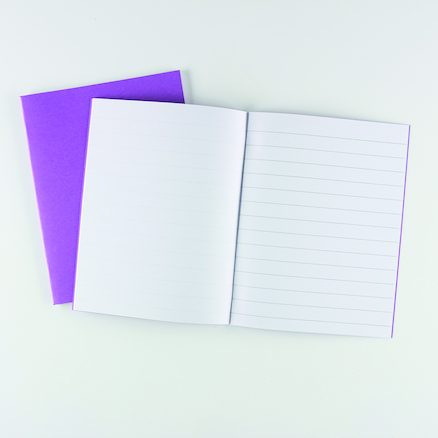 9 x 7\'\' Ex Book 32pg 100pk Purple Plain\/15mm Ruled  large