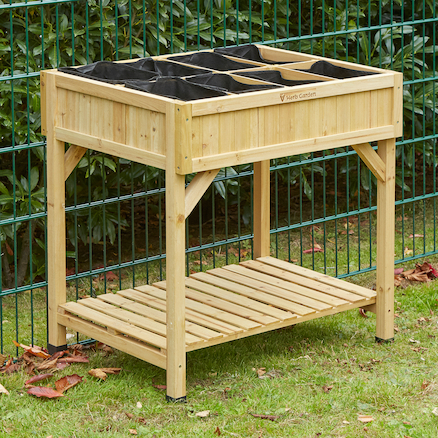 Herb Garden Natural Wood H80 x W78 x D58cm  large