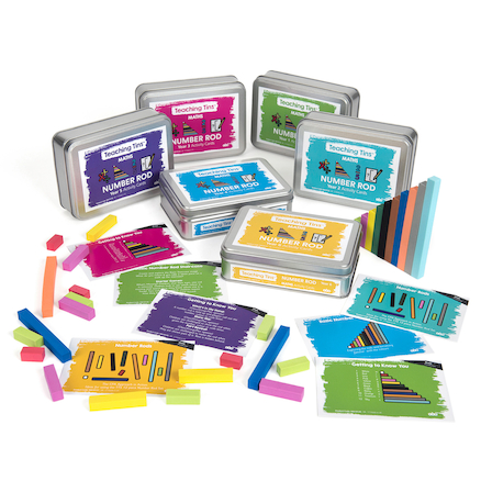 Teaching Tins Number Rods Activity Cards  large