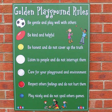 Playground Rules Signboard  large