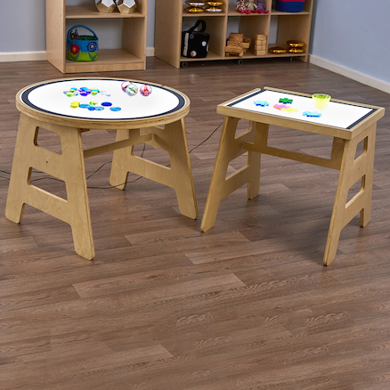 Table and Light Panel Set Circle  large