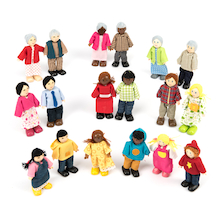 Small World Multicultural Family Figures Doll Set  medium