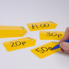 Dry Wipe Plastic Price Tags 20pcs  medium