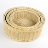 Outdoor Plastic Willow Woven Nesting Trays 3pk  small