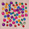 Assorted Size Sparkling Jewel Counters 60pcs  small