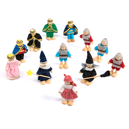 Fairy Tale and Medieval Wooden Small World Figures  large