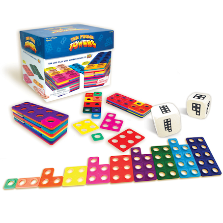 Plastic Ten Frame Towers Activity  large