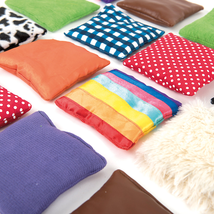 Find the Match Fabric Sensory Beanbags  large