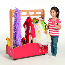 Red Wooden Role Play Dressing Up Storage Unit  medium