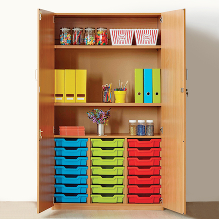 Cupboard with 21 Shallow Trays  large