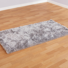 Silver Shimmer Textured Soft Rug 150 x 80cm  medium