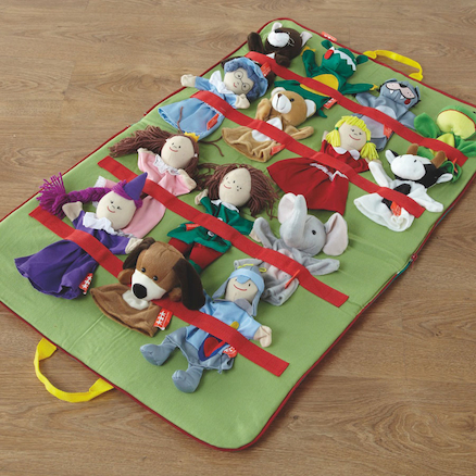 Role Play Carry Along Puppets Set 14pcs  large