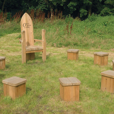 Outdoor Wooden Story Circle  large