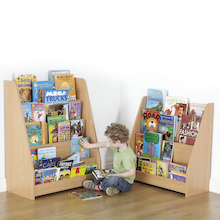 Wooden Book Display Units  medium