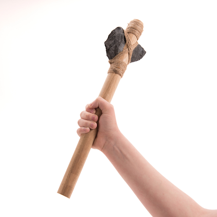 Stone Age Wooden Mounted Axe  large