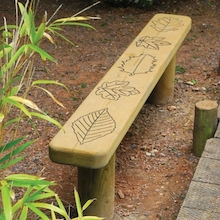 Engraved Outdoor Wooden Bench  medium