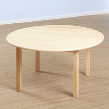 Solid Beech Circular Table and Chairs Set  medium