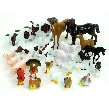 Small World Farm Animals and Their Young Set  large
