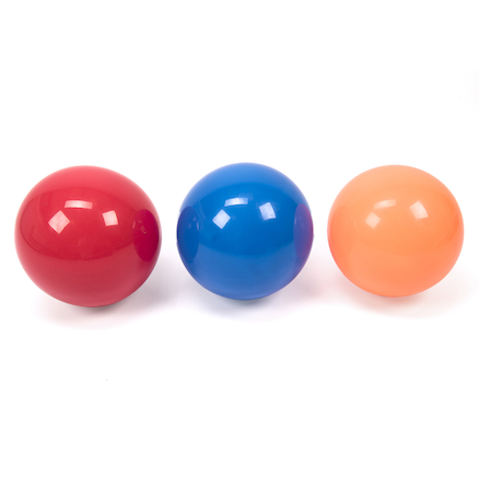 Colourful PVC Metallic Balls 3pk  large