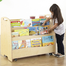 Double Sided Mobile Book Storage Unit  medium