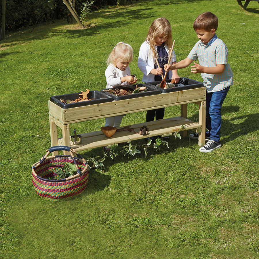 Messy Playroom: Buy Outdoor Discovery Table With Rubber Trays