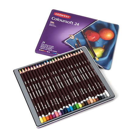 Derwent Coloursoft Colouring Pencils Assorted 24pk