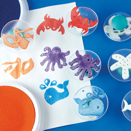 Assorted Sea Life Stampers D7.5cm 14pk  large