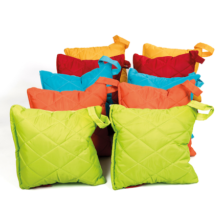 Outdoor Quilted Carry Cushions 10pk  large
