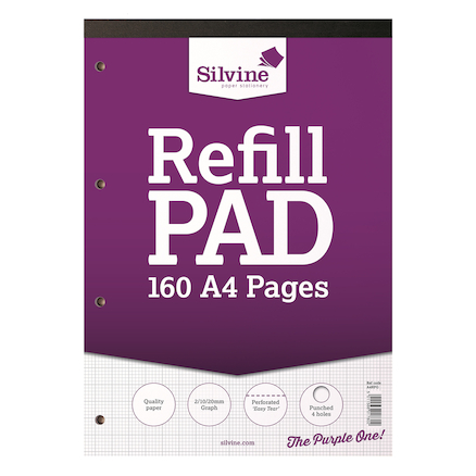 A4 Graph Refill Notepad 160 Pages 6pk  large
