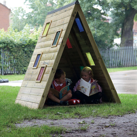 Outdoor Triangular Rainbow Den  large