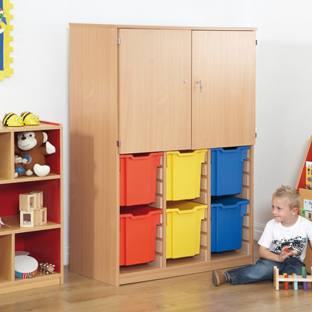 Cupboard With Jumbo Tray Storage  large