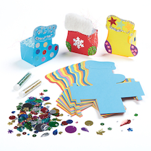 Precut Card Stocking Gift Boxes Assorted 30pk  medium