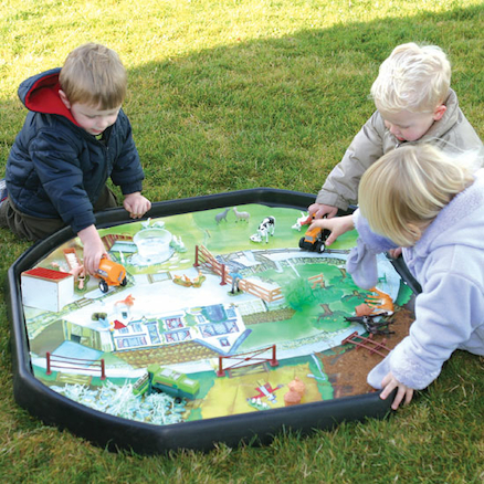 Active World Tuff Tray Farmyard Mat  large