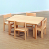 Solid Beech Rectangular Table and Chairs Offer  small