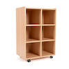 Open Storage Unit with Six Large Compartments  small