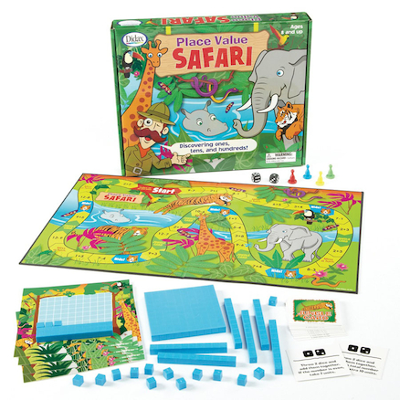 Place Value Maths Safari Board Game  large