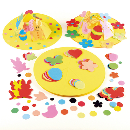 Precut Ready To Decorate Easter Crown Hats 30pk  large