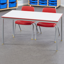 Fully Welded Tables Coloured Edge Rectangular  medium