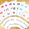 Numbers French Vocabulary Bingo Game  small